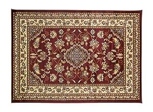 eRugs - Très grand tapis persan classique oriental - Motif floral - Rouge- 160x 230cm
