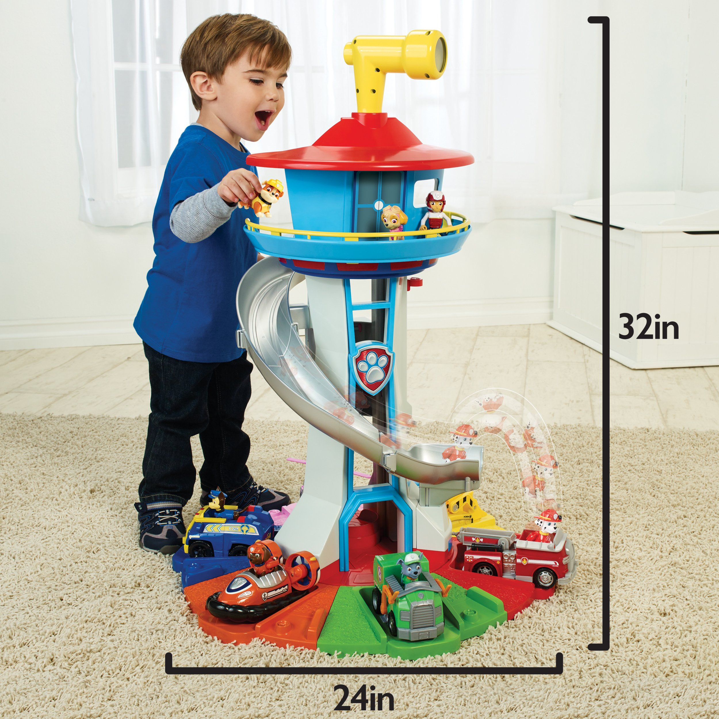 PAW Patrol My Size Lookout Tower with Exclusive Vehicle, Rotating Periscope & Lights & Sounds by Nickelodeon (Image #3)