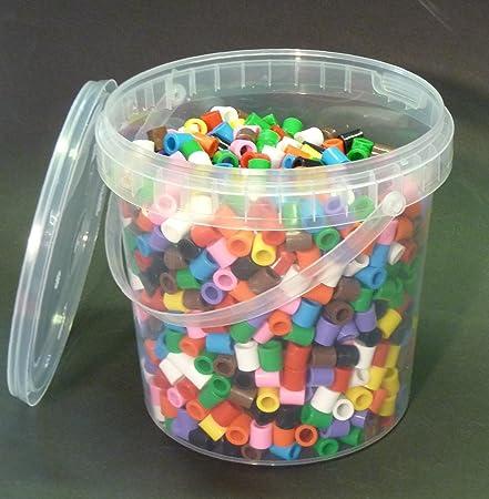 Playbox XL Bügelperlen Eimer mit 1 400 Stück in Maxi Größe