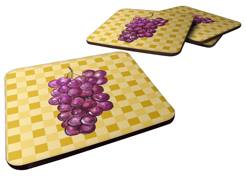 Carolines Treasures BB7227FC Grapes on Basketweave Decorative coasters 3.5 Multicolor