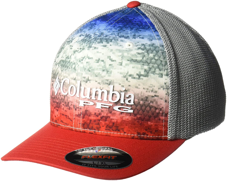 ef200e2a4686d Amazon.com: Columbia PFG Camo Mesh Ball Cap: Clothing