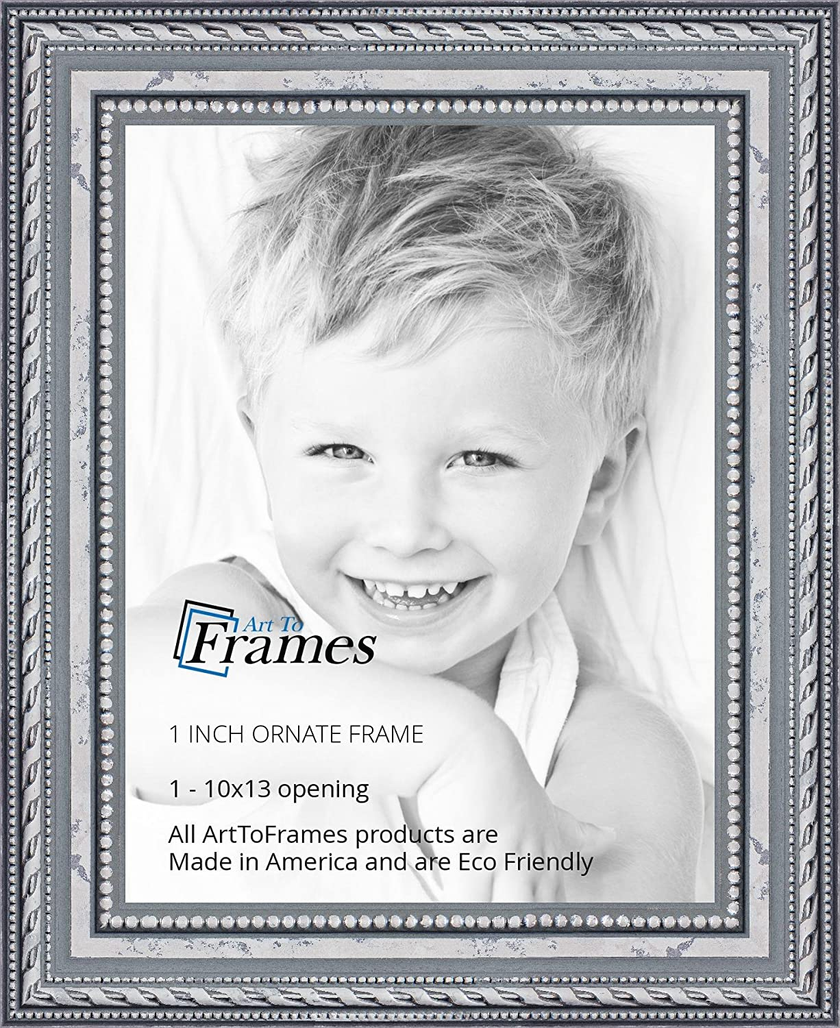Amazon.com - ArtToFrames 10x13 inch Ornate SIlver Wood Picture Frame ...
