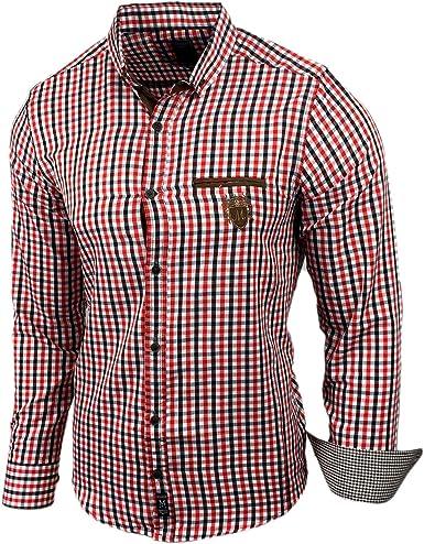 Baxboy Señor Camisa Manga Larga Ocio Classic cuadros camisa ...