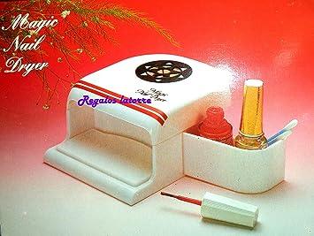Secador de Uñas con ventilador. Funciona con 4 pilas tipo AA (Incluidas).: Amazon.es