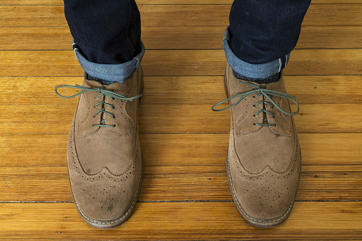 """Benchmark Basics Round Waxed Cotton Shoelaces 5//64/"""" 33/"""" /& 36/"""" 2mm 27/"""" 30/"""" Width Available in 18 Colors"""