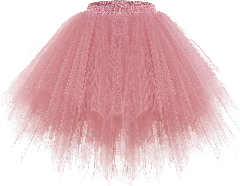 DRESSTELLS Damen T/üllrock 50er Rockabilly Petticoat Tutu Unterrock Kurz Ballett Tanzkleid Ballkleid Abendkleid Gelegenheit Zubeh/ör