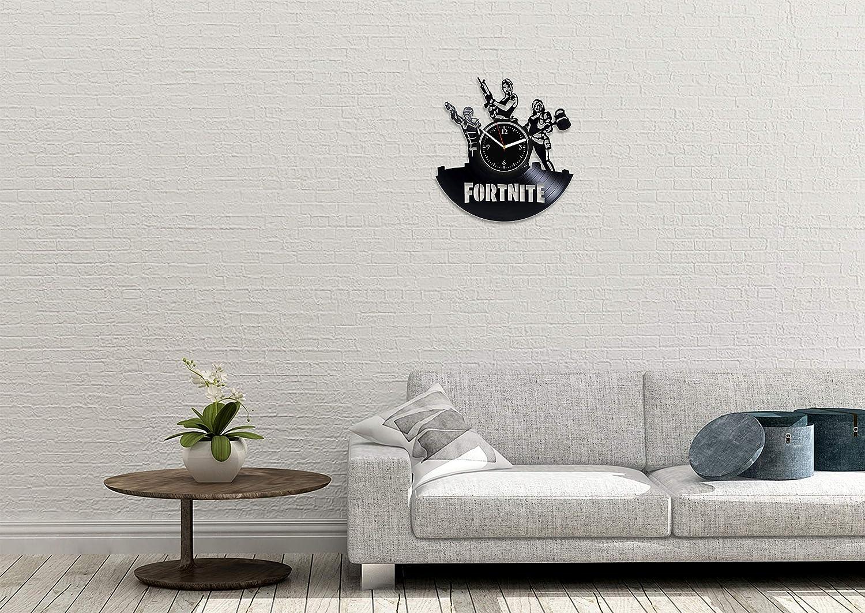 RainbowClocks Fortnite Vinyl Wall Clock Fortnite Wall Clock Fortnite Game Vinyl Record Wall Clock Fortnite Gift Fortnite Clock Gift for Gamer Xmas Gift Fortnite Vinyl Clock