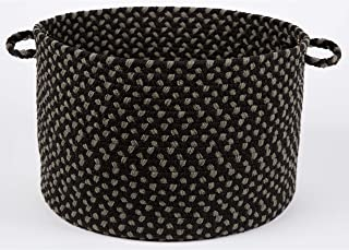 product image for Rhody Rug Mission Hill Braided Basket Black Multi