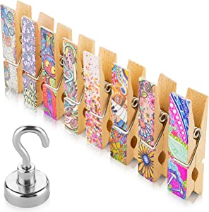 8 Unique Fridge Magnets Clips + Strong Magnetic Hook - Display Photos & Memos On a Refrigerator, Locker, Whiteboard In a Cute & Fun Way. Perfect For Kitchens, Offices, Classrooms & Cubicles.