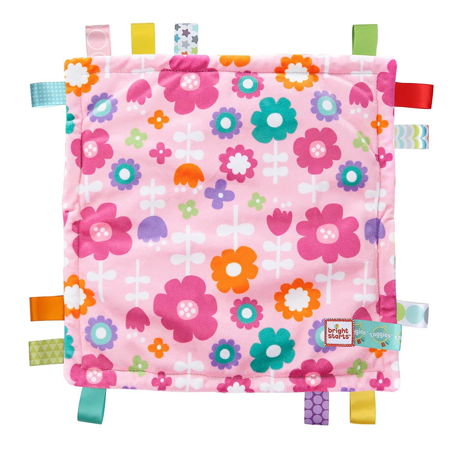 Taggies Colors Blanket, Pink Flowers and Butterflies, Discontinued By Manufacturer Bright Starts