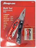 Snap-On Stainless Steel Multi Tool with Easy Grip Folding Handles. 11 Tools in 1 Component. Includes Screwdrivers, Pliers, Files, Openers and Cutters