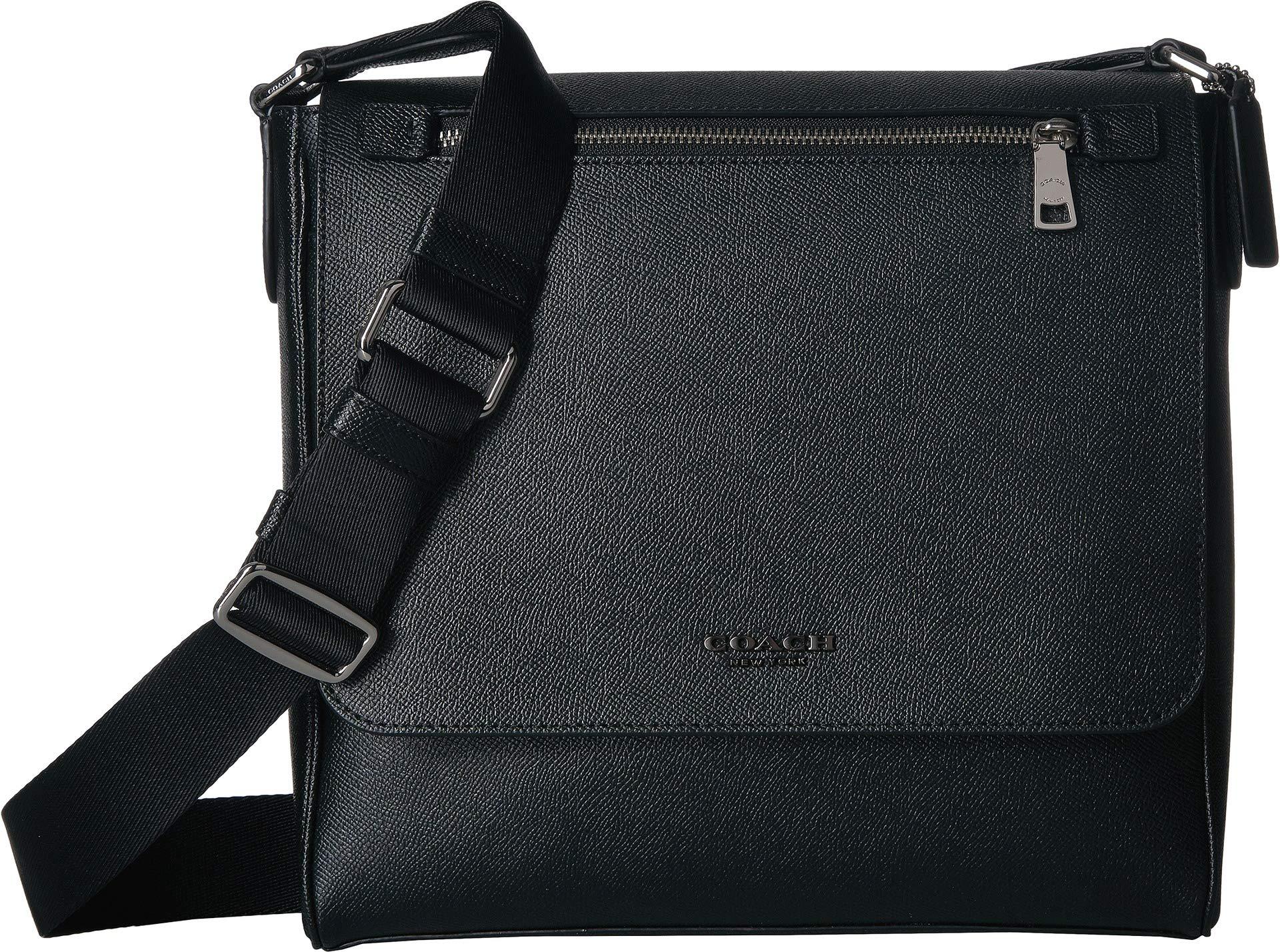 COACH Men's Kennedy Map Bag Sv/Black One Size