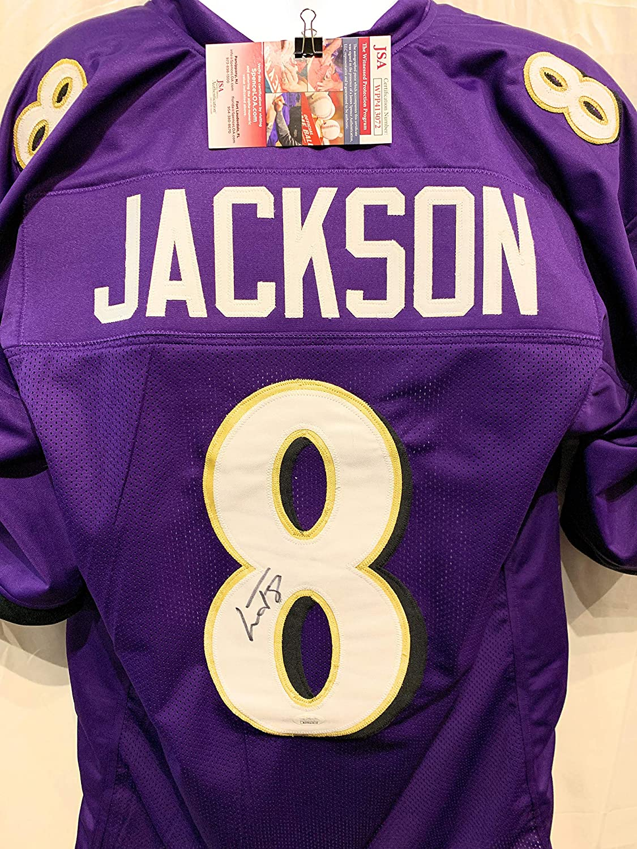 buy online 77a12 d4b56 Lamar Jackson Baltimore Ravens Signed Autograph Purple ...
