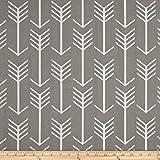 Premier Prints Arrow Indoor/Outdoor Grey Fabric By The Yard
