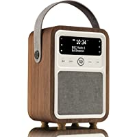 VQ Monty DAB/DAB+ Digital Radio with FM & AM, Bluetooth and Alarm Clock - Real Wood Case Walnut Case