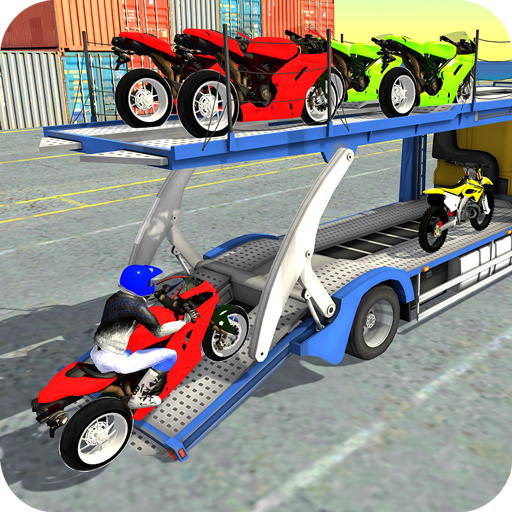 Motorcycle Transporter Truck: Bike Transport Games