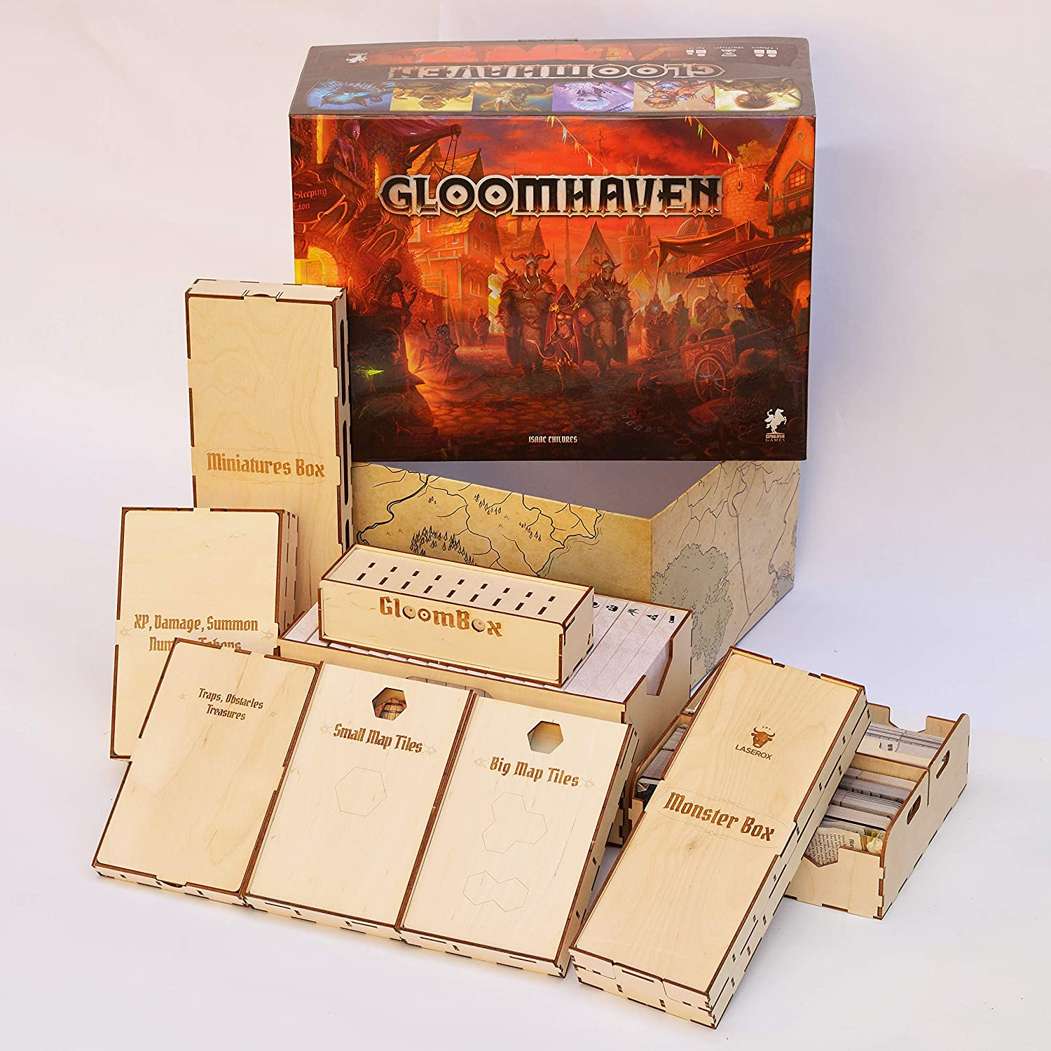Laserox Gloombox Gloomhaven Insert by