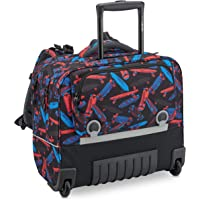 Delsey Paris - Back to School 2020 - Trolley Wheels/Backpack with Ergonomic Horizontal System 15.6 Inches - Black