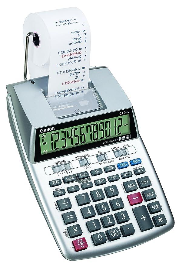 Amazon.com: Canon P23-DHV-3 - Calculadora de impresión con ...