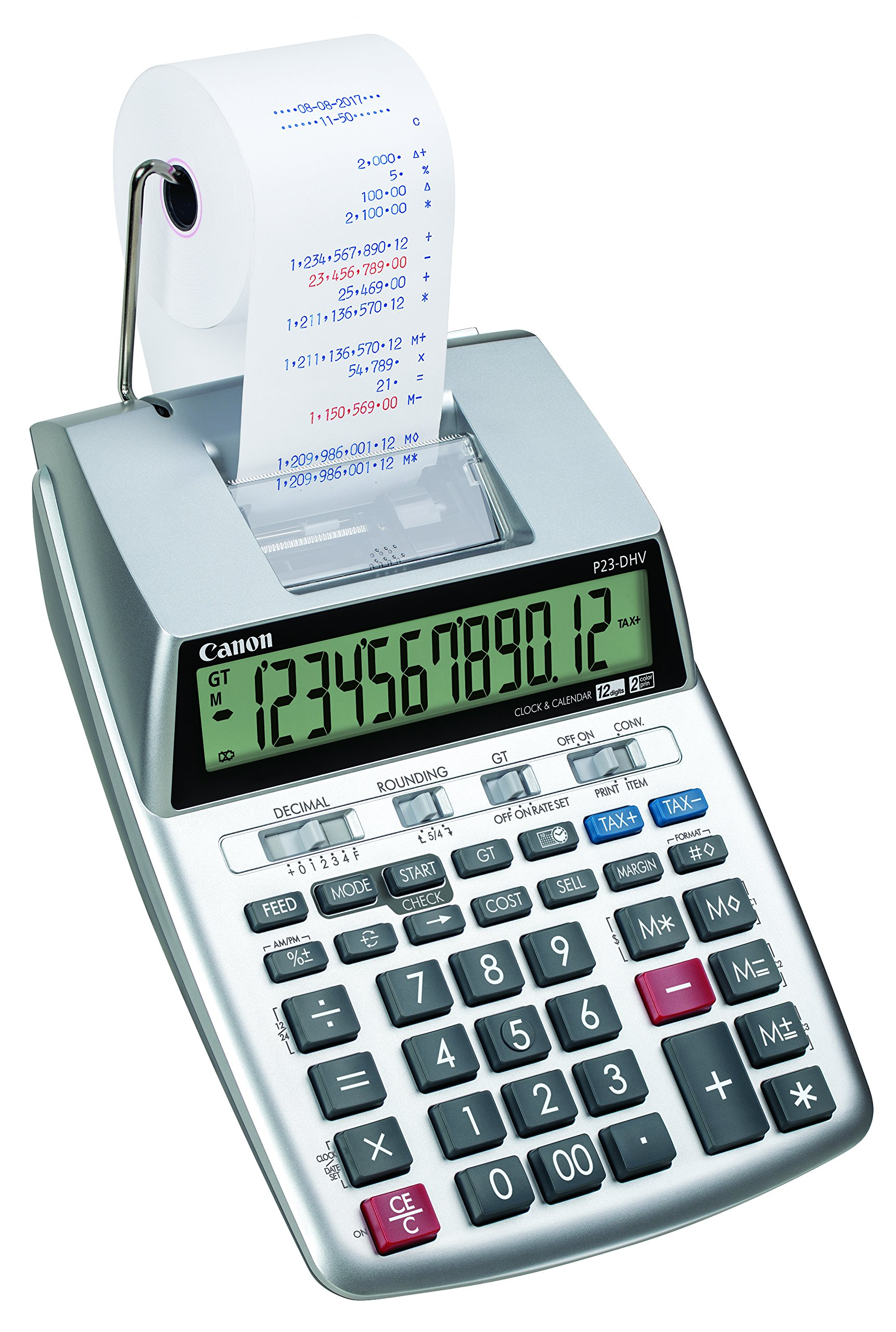 Canon P23-DHV-3 Printing Calculator with Double Check Function, Tax Calculation and Currency Conversion by Canon (Image #1)