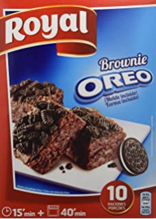 Royal Brownie Con Oreo - Paquete de 6 x 62.50 gr - Total: 375 gr