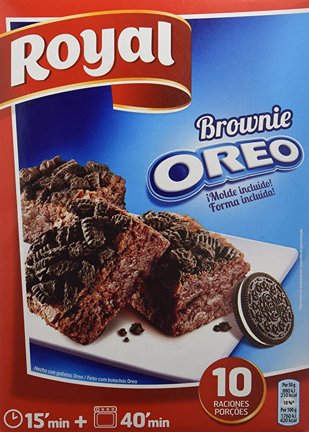 Royal Brownie Con Oreo - Paquete de 6 x 62.50 gr - Total: 375 gr: Amazon.es: Alimentación y bebidas
