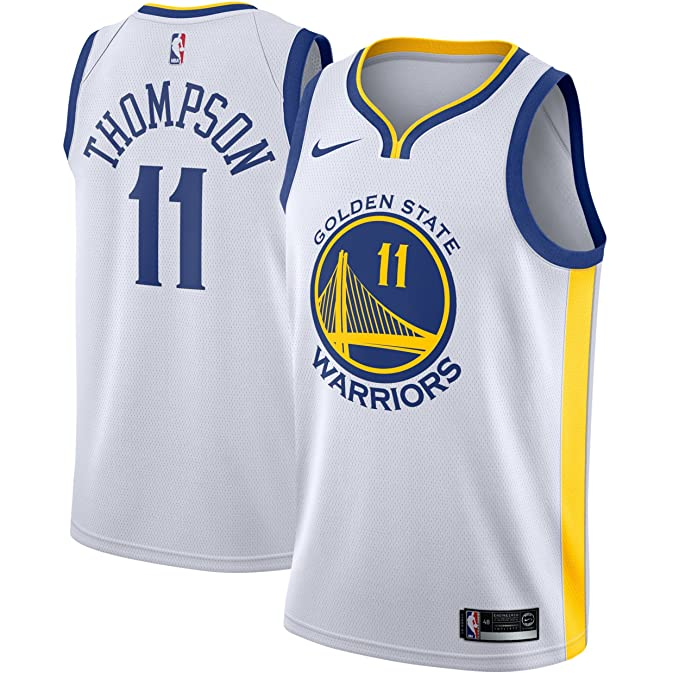 Nike NBA Golden State Warriors GSW Klay Thompson 11 2017 2018 Association Edition Jersey Official,