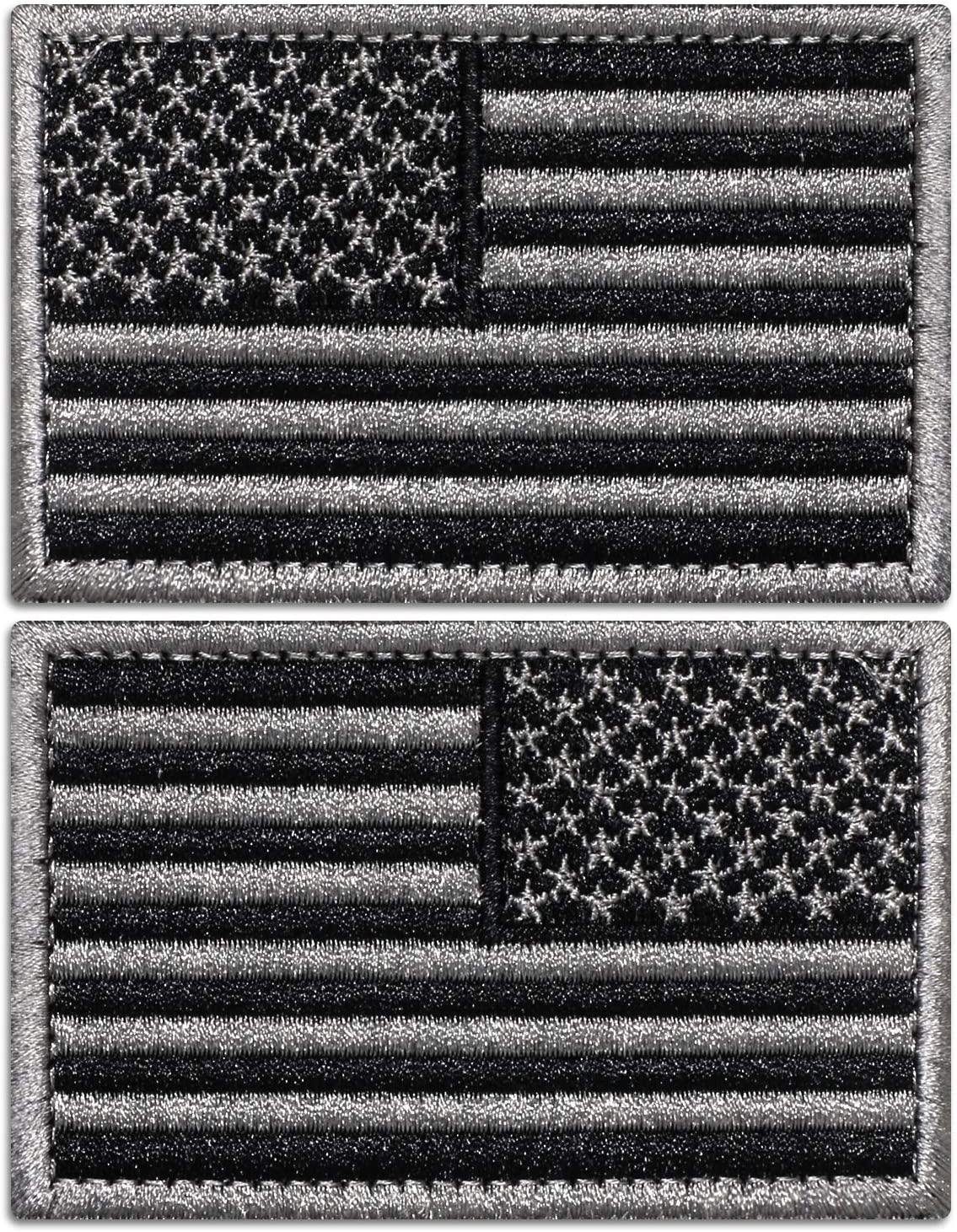 "2/"" x 3/"" United States US Color Flag Patch VELCRO® BRAND Hook Fastener Compatible"