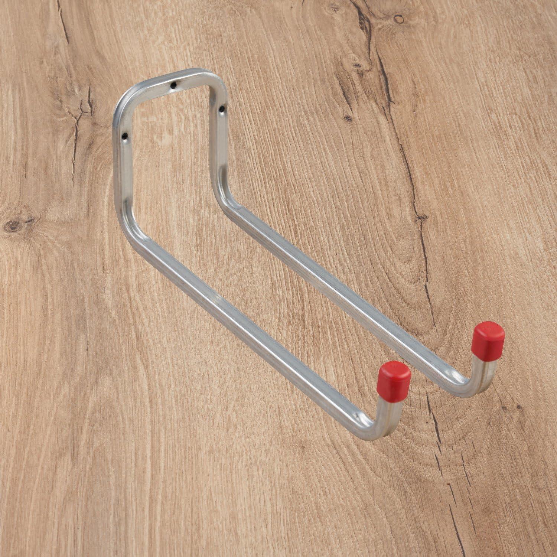 Utensilien JZK 30 x Wei/ß Metall Wandhaken mit Schrauben Kleiderhaken Einzelhaken Haken zum Aufh/ängen von Kleidung Handt/üchern Tassen Werkzeug