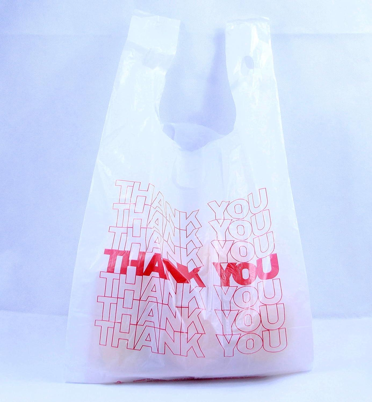 RノーブルThank You Reusable Groceryプラスチックバッグ、1 / 6、15マイク、600カウント B074MQKSKV