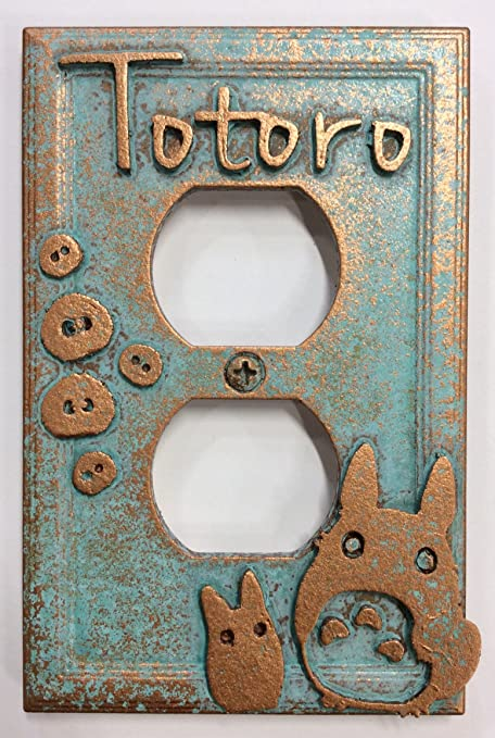 My Neighbor Totoro   Outlet Cover (Aged Patina)