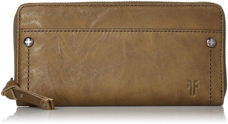 FRYE Demi Zip Around Leather Wallet Black 34DB0136-BLK