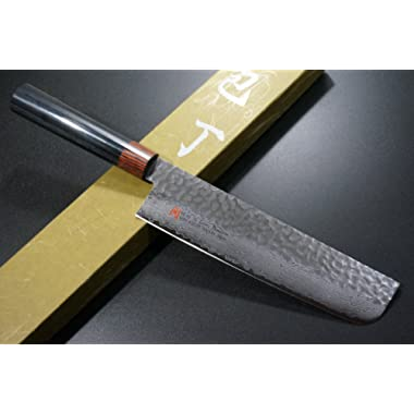 SETO Japanese Chef Knives: Damascus Forged Steel from World Famous Seki, Japan (I-6: 180m/ m: Thin Blade Knife)