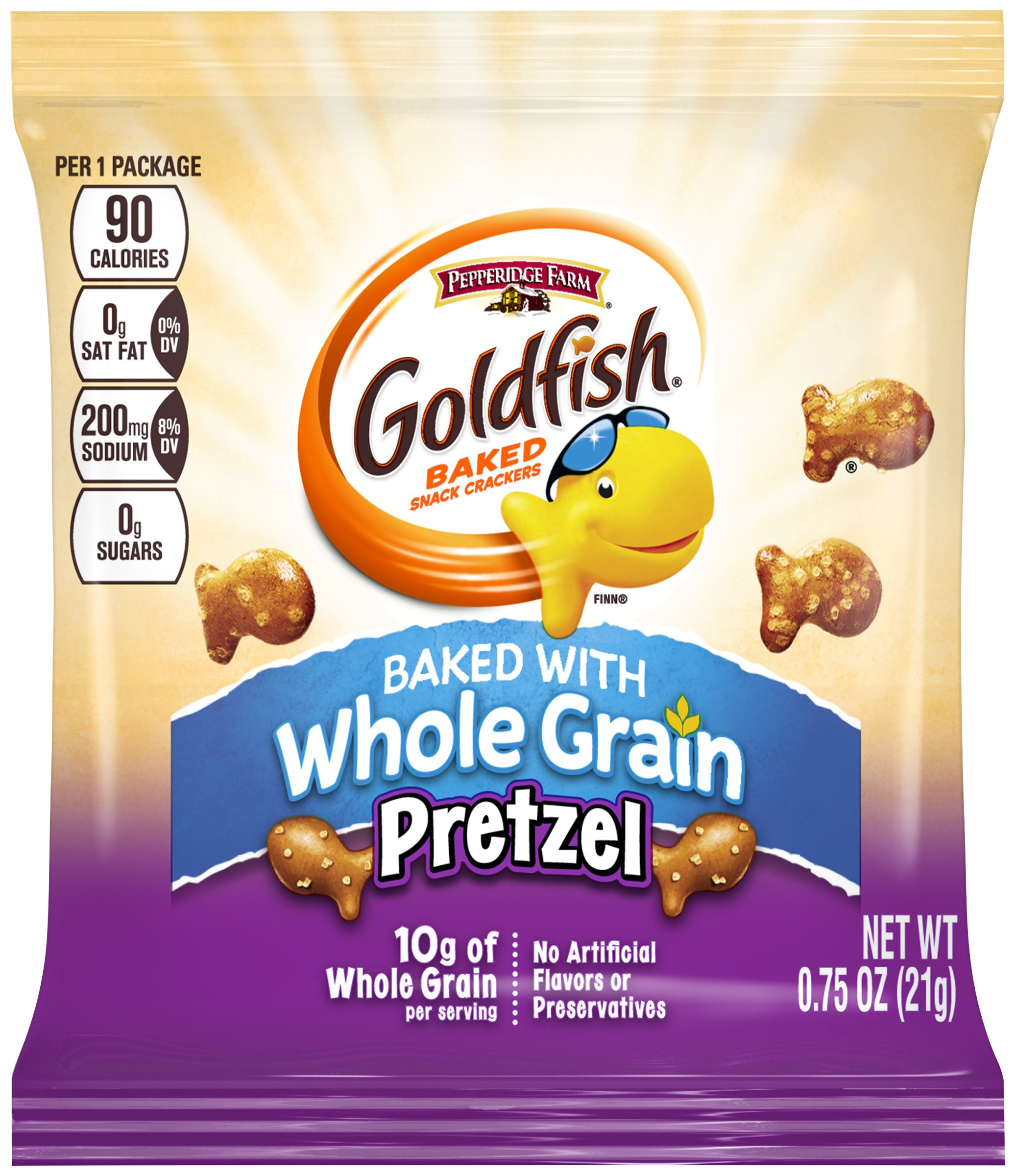 PEPPERIDGE FARM Goldfish Pretzel Snacks, 300-Count Pouches, 0.75 oz