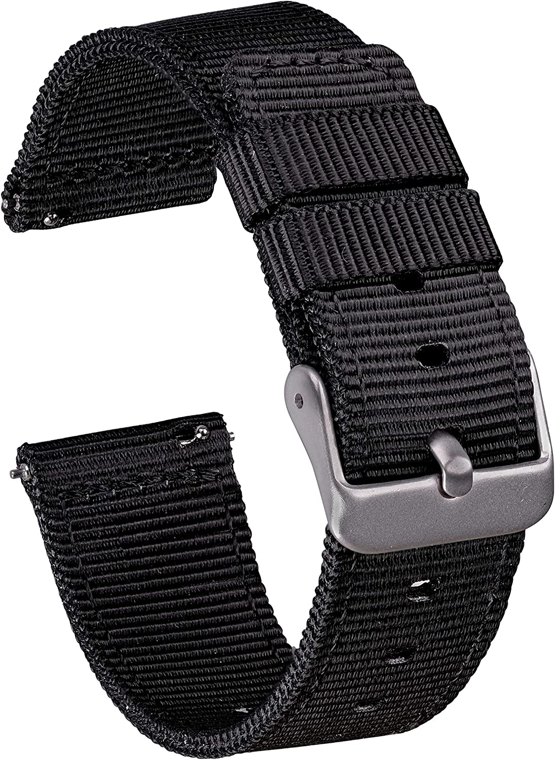 GadgetWraps 20mm Gizmo Watch Nylon Watch Band with Quick Release Pins – Compatible with Gizmo Watch, Samsung, Pebble – 20mm Nylon Watch Band (Black, 20mm)