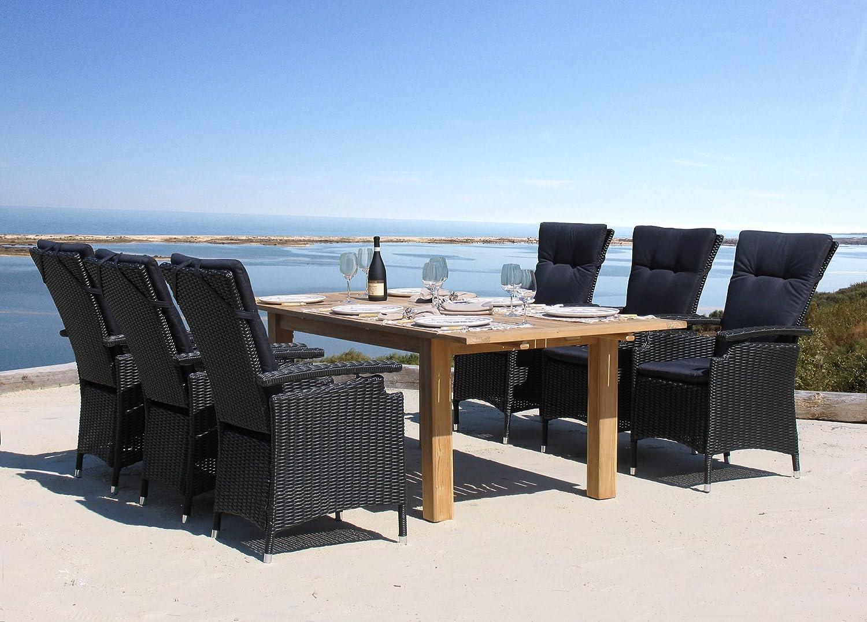rattan teak legacy set 13tlg g nstig kaufen. Black Bedroom Furniture Sets. Home Design Ideas