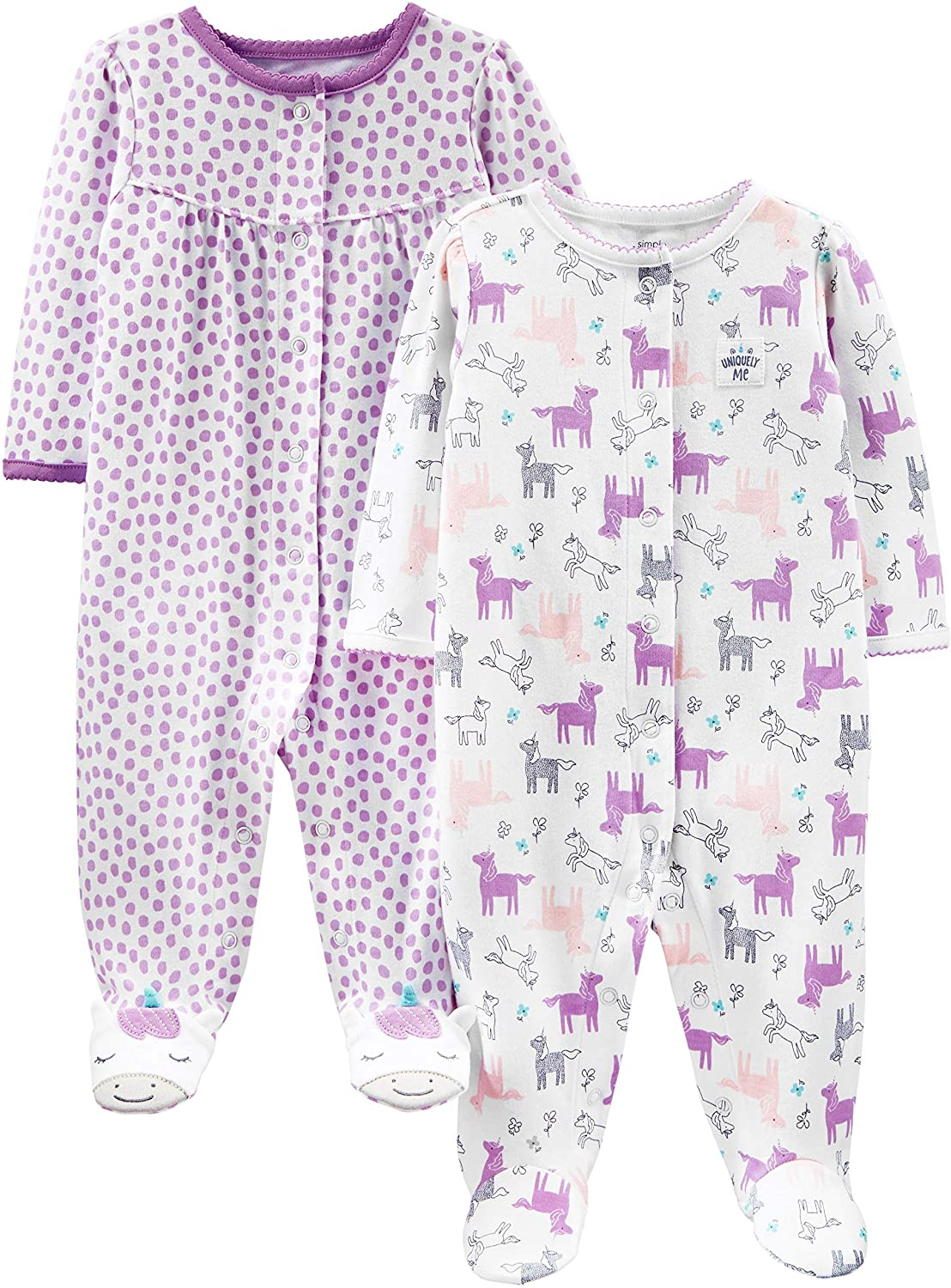 Simple Joys by Carters Baby Girls Toddler Sleepers