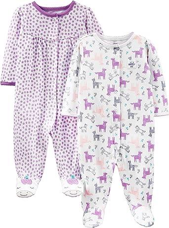 Simple Joys by Carters Baby Girls Pack de 2 peleles de algodón para dormir y jugar: Amazon.es: Ropa y accesorios