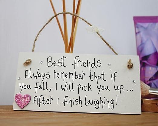 Little Miss Scrabbled-Targa in legno friendship gifts Best friend Best Friends in confezione regalo