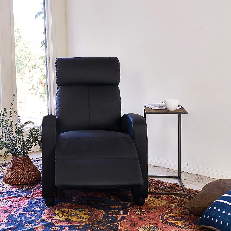 BestMassage Modern Leather Recliner Chair