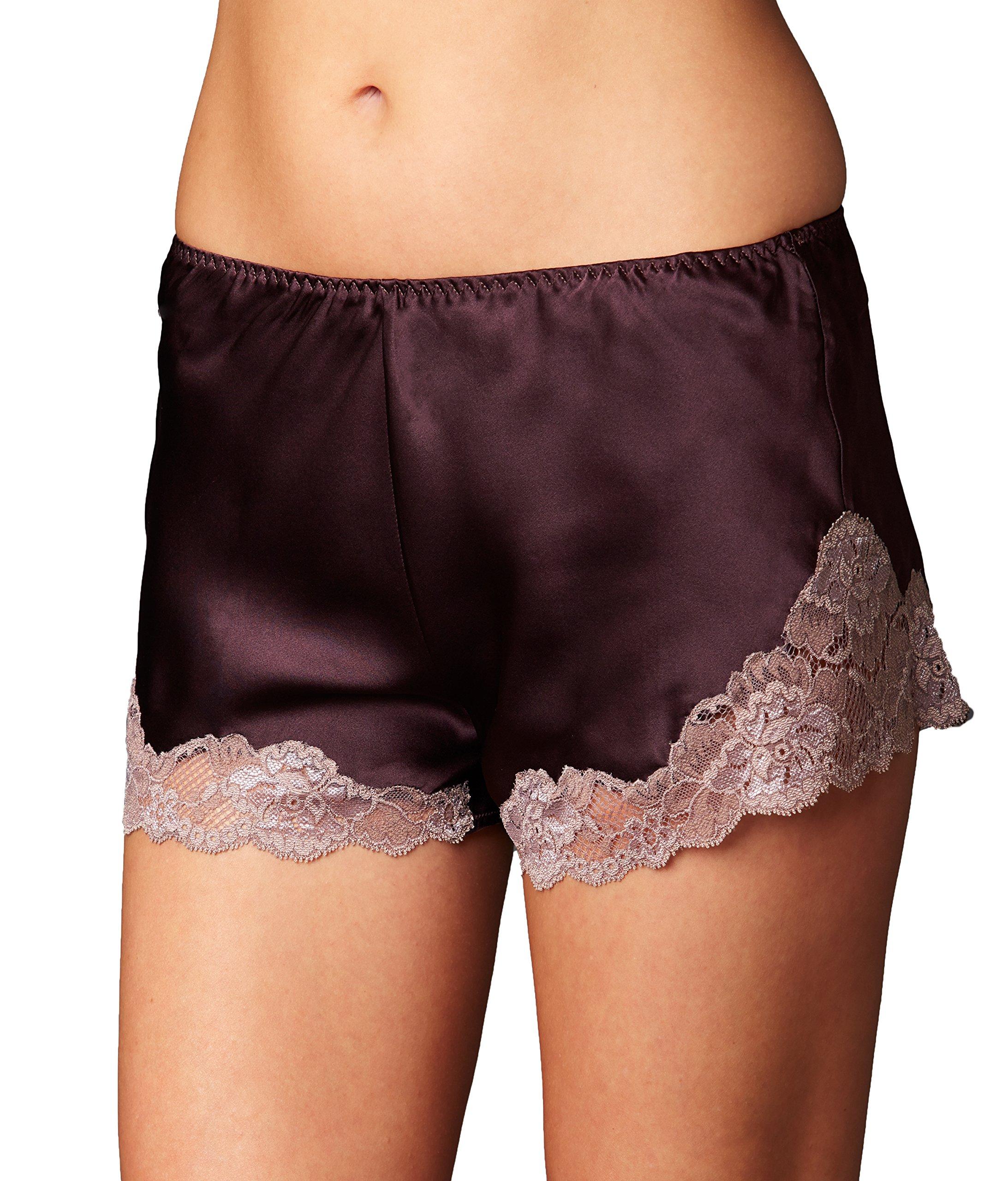 Julianna Rae Women's Sweet Indulgence 100% Silk Tap Pant, Voluta, L