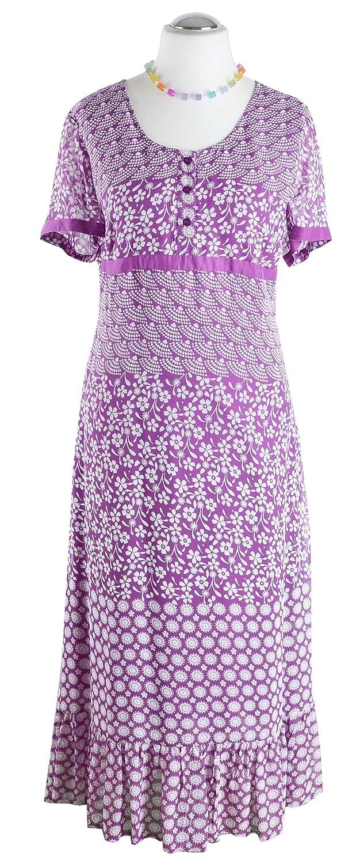 adonia mode Langes Maxikleid Sommerkleid Chiffon Lila Beere Gr.40 - 56