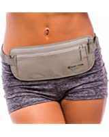 Premium Travel Money Belt - $500 Theft Protection, RFID Blocking, and 2x Credit Card Sleeves