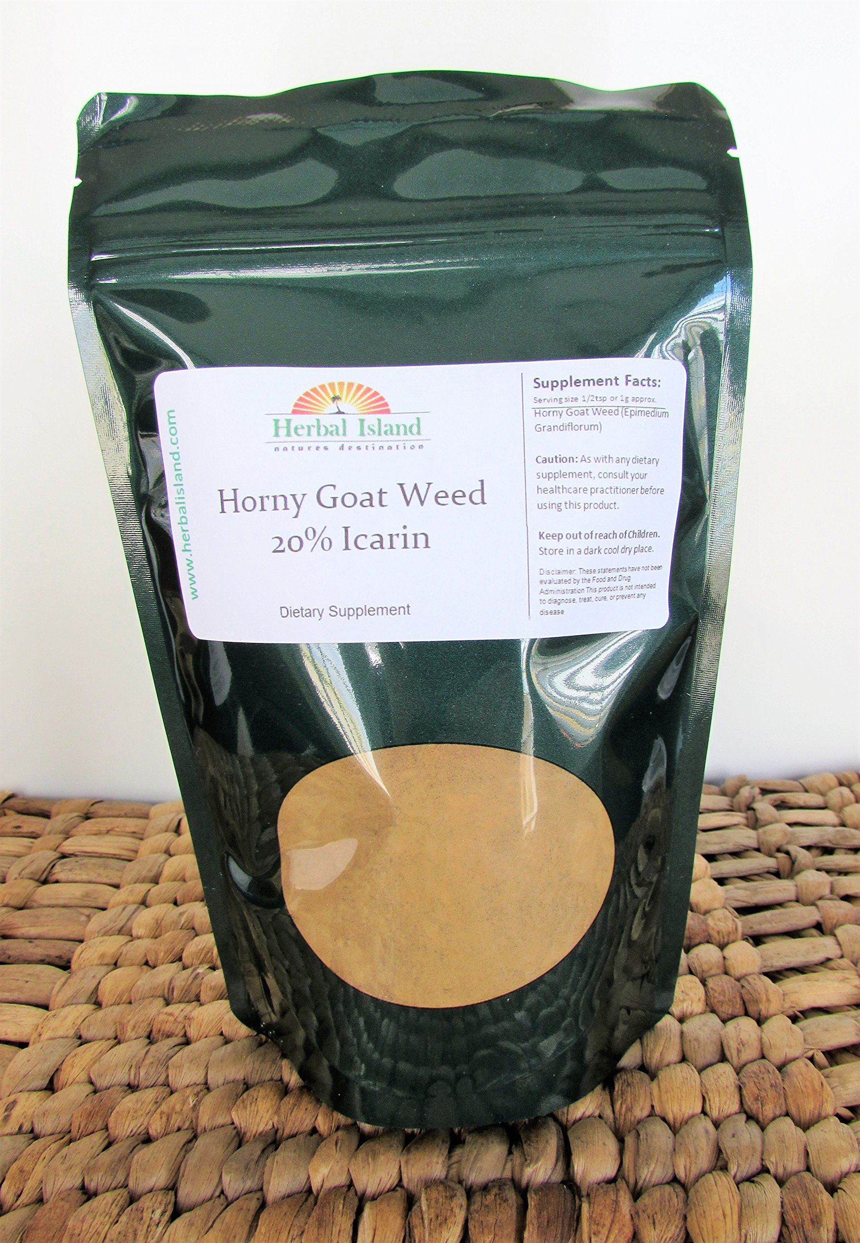 Horny Goat Weed Extract Powder 1lb or 16oz - 20% Icarin