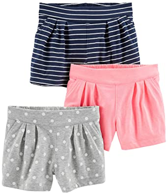 f59ef376d2 Simple Joys by Carter's Baby Girls' Toddler 3-Pack Knit Shorts, Pink,