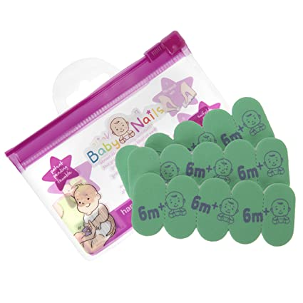 Lima de uñas para bebés (6 meses +) I Cuidado de uñas bebé I Accesorio para recien nacidos y bebés I Regalo para mamás - Repuesto (3 x 5)