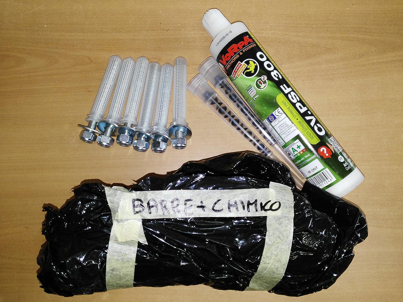BodyStrongFitness Kit Fissaggio Professionale Barra trazioni profondità 90 cm