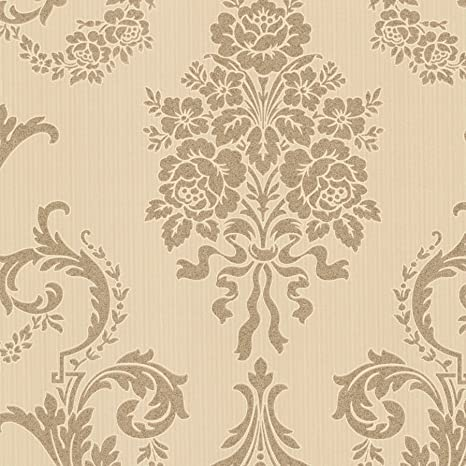 Beacon House 495 69000 Chambers Gold Floral Damask Wallpaper