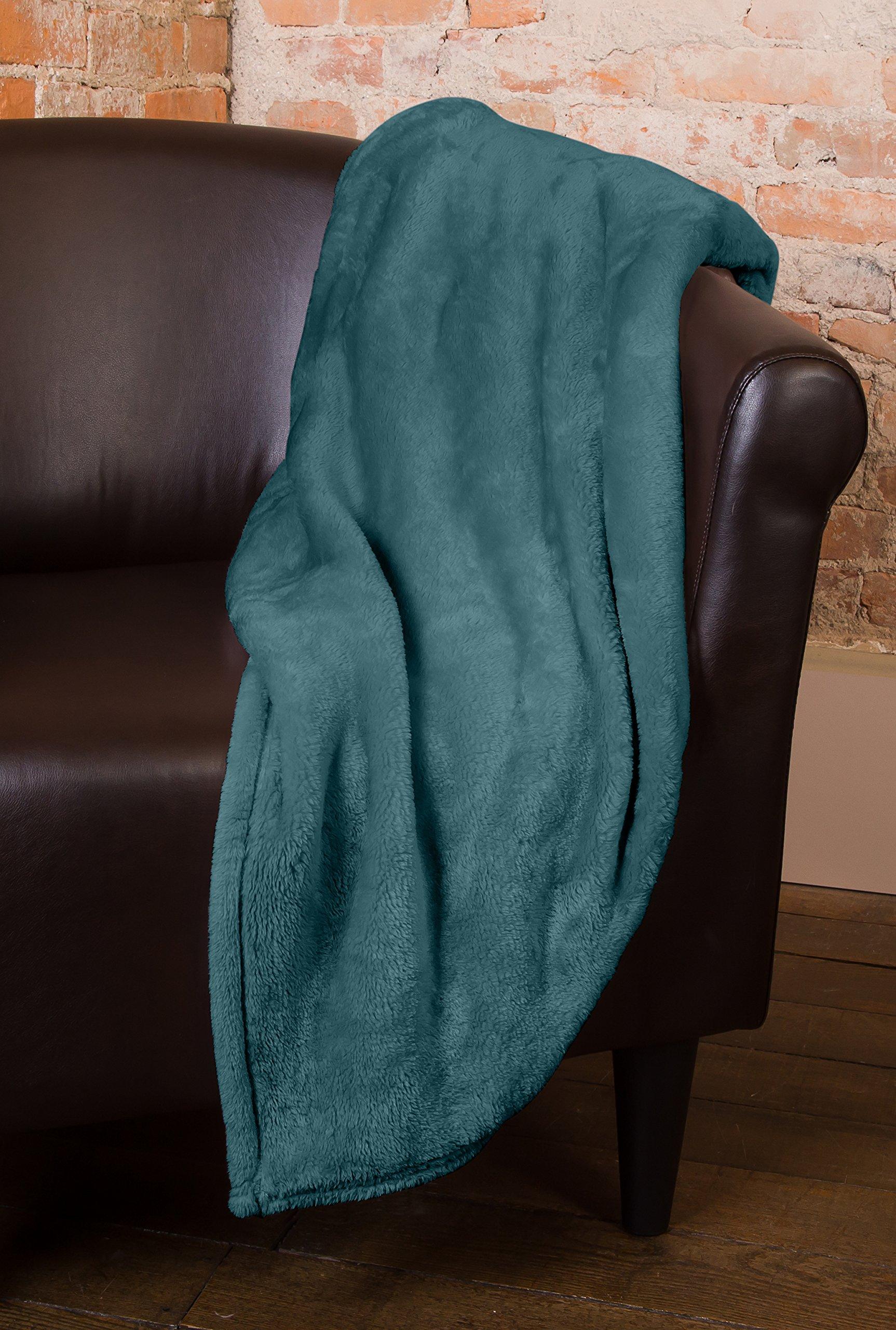 Elle Decor Silky Soft Thick Plush Throw Blanket (Piedmont, King Size 90 X 102)