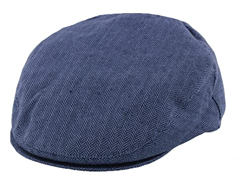 40592c3d Failsworth Silk Mix Flat Cap in Navy Blue Herringbone: Amazon.co.uk:  Clothing